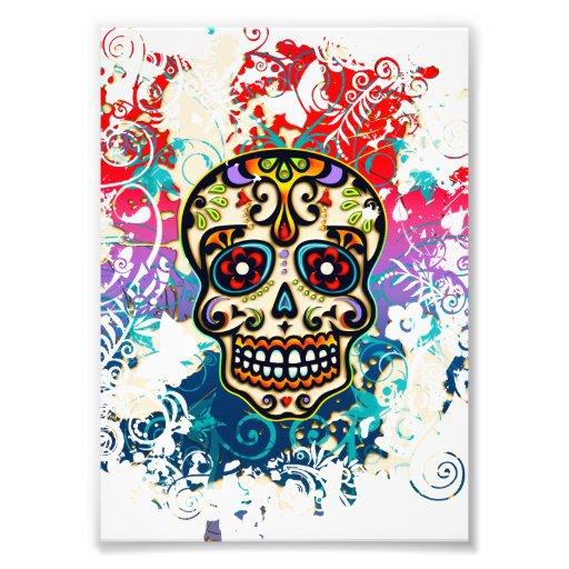 Zuckern Sie Schädel, Mexiko, Dias de Los Muertos Fotodruck