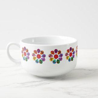 Zuckerschädel-Blumen Große Suppentasse