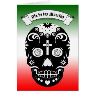 Zuckerschädel dia de Los Muertos Karte