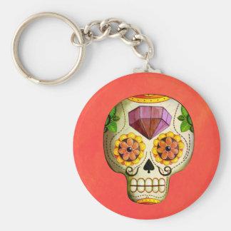 Zuckerschädel Dia de Los Muertos Mexican Schlüsselanhänger