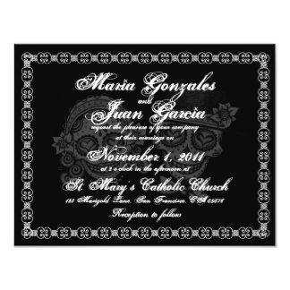 Zuckerschädel-Hochzeits-Einladungen