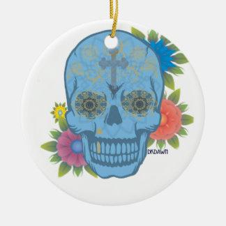 ZUCKERschädel Keramik Ornament