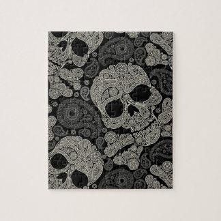 Zuckerschädel-Knochen-Muster-Puzzlespiel Puzzle