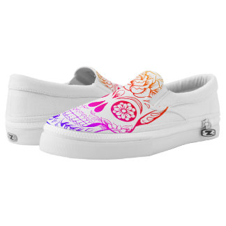 Zuckerschädel-Mehrfarbenschuhe Slip-On Sneaker
