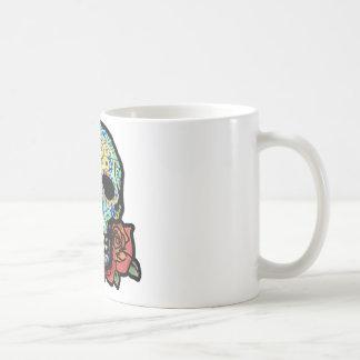 Zuckerschädel mit Rosen Kaffeetasse
