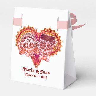 Zuckerschädel-Paar-Bevorzugungs-Kasten - FERTIGEN Geschenkkartons