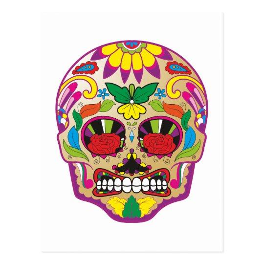 Zuckerschädel sugar skull postkarte