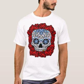 Zuckerschädel und -ROSEN T-Shirt
