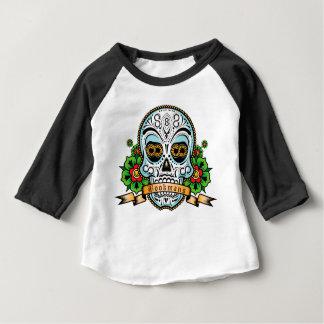 Zuckerschädel-Vorlage FARBE Baby T-shirt