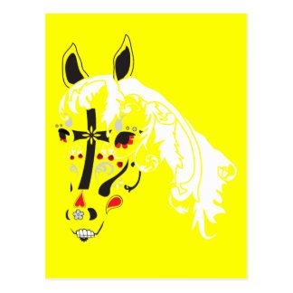 Zuckerschädelpferd Postkarte