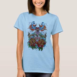 Zuckerschädeltätowierung T-Shirt