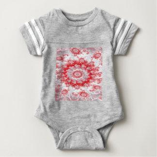 Zuckerstange-Blumen-Strudel-Fraktal Baby Strampler