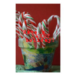 Zuckerstange-Feiertags-Grüße Briefpapier