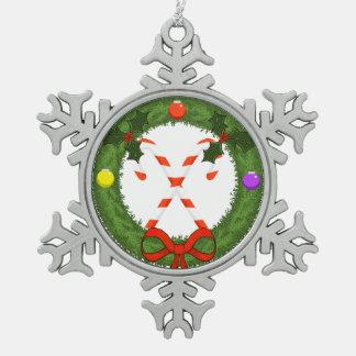 Zuckerstange in der Kranz-Zinn-Verzierung Schneeflocken Zinn-Ornament