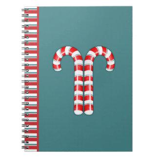 Zuckerstange-Rot Notizbuch Spiral Notizblock