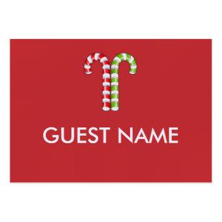 Zuckerstange-rote grüne Abendessen-Platzkarte Mini-Visitenkarten