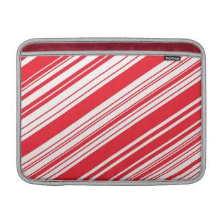 Zuckerstange-rote und weiße diagonale multi MacBook air sleeve