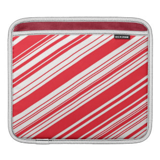 Zuckerstange-rote und weiße diagonale multi sleeve für iPads