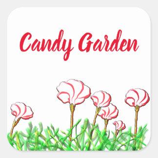 Zuckerstange-Sauerampfer-Garten Quadratischer Aufkleber