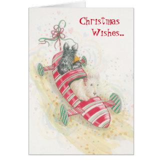 Zuckerstange scherzt Weihnachtsgrüße Karte