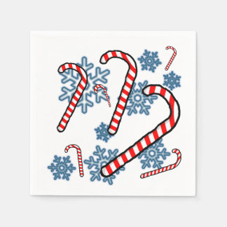 Zuckerstange-Schneeflocke-Servietten Papierserviette