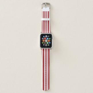 Zuckerstange-Streifen Apple passen ledernes Band