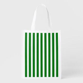 Zuckerstange-Streifen im Weihnachtsgrün u. Wiederverwendbare Einkaufstasche
