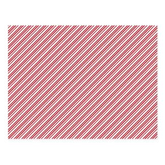 Zuckerstange-Streifen Postkarte