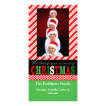 Zuckerstange-Streifen-WeihnachtsFoto-Karte Individuelle Photo Karten
