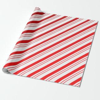 Zuckerstange Stripes Packpapier