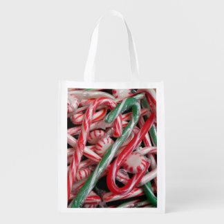 Zuckerstange-und Pfefferminz-Weihnachtsfeiertag Wiederverwendbare Einkaufstasche