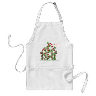 Zuckerstange-und Rebe-WeihnachtsSchürze Schürze