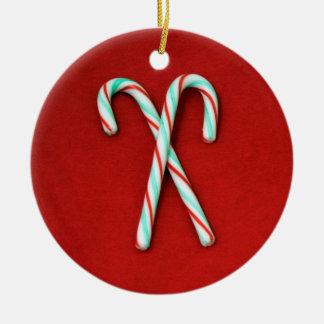 Zuckerstange-Weihnachtsverzierung Keramik Ornament