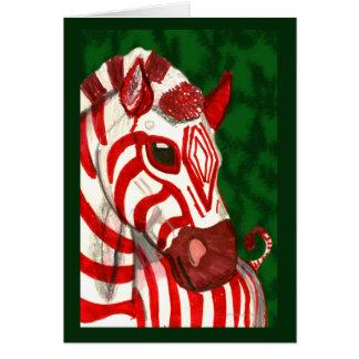 Zuckerstangezebra-Weihnachtskarte Karte