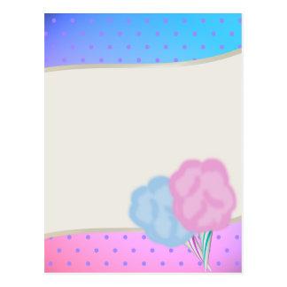 Zuckerwatte Postkarte