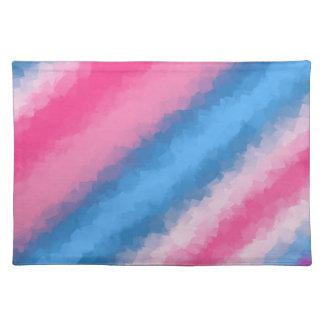 Zuckerwatte-Regenbogen-Farben Tischset