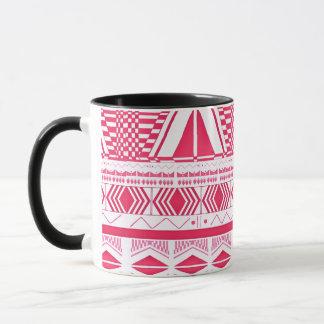 Zuckerwatte-Rosa-Azteke-Muster Tasse