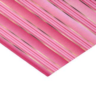 Zuckerwatte-Rosa und Goldstreifen Seidenpapier