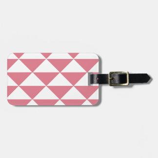 Zuckerwatte-rosa und weiße Dreiecke Kofferanhänger