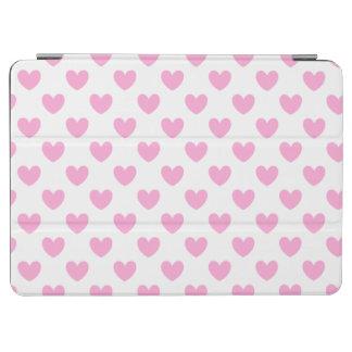Zuckerwatte-Rosapolkaherzen auf Weiß iPad Air Cover