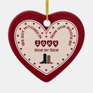 Zuerst 1. Weihnachtsverheiratetes Keramik Ornament