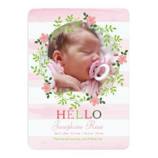 Zuerst hallo Foto-Geburts-Mitteilung Karte