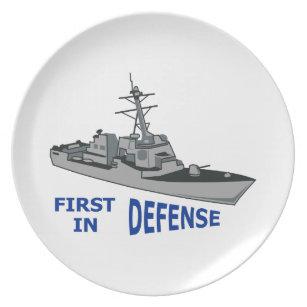 Zuerst in der Verteidigung Teller