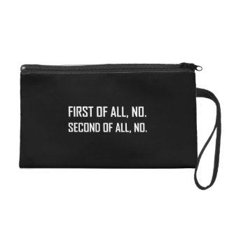 Zuerst kein zweites kein wristlet handtasche