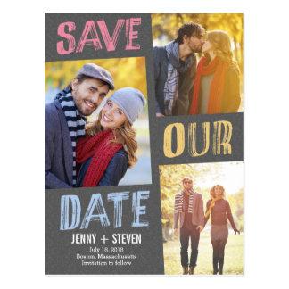 Zufällig Chic-Save the Date Postkarte