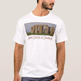 Zufälliger das Stonehenge der Männer Watercolor. T-Shirt