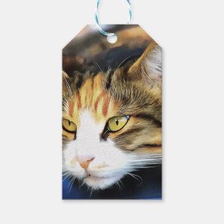 Zufrieden gestellte Katze Geschenkanhänger