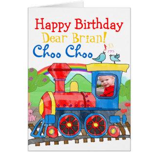 Zug-alles- Gute zum GeburtstagFoto-Grußkarte