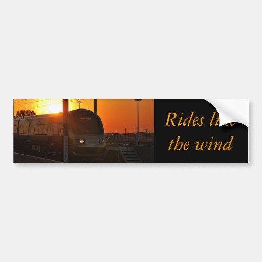 Zug am Sonnenuntergang Auto Sticker