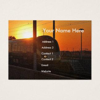 Zug am Sonnenuntergang Jumbo-Visitenkarten